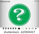question mark icon  vector... | Shutterstock .eps vector #615044417