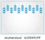 lanterns hanging decorative.... | Shutterstock . vector #615049199