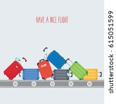 luggage colorful background... | Shutterstock .eps vector #615051599