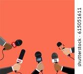 breaking news vector journalism ... | Shutterstock .eps vector #615051611