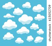 clouds set icons vector... | Shutterstock .eps vector #615052709