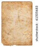 old parchment paper with shabby ... | Shutterstock . vector #61505683