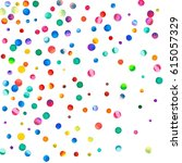 sparse watercolor confetti on... | Shutterstock . vector #615057329