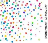 sparse watercolor confetti on... | Shutterstock . vector #615057329