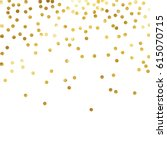 gold glitter background polka... | Shutterstock .eps vector #615070715