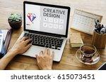 graphic design icon creative... | Shutterstock . vector #615073451
