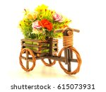 Flowers Isolated In Pot Bike O...