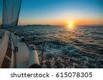 Sailboat With Sails Set To Sea...