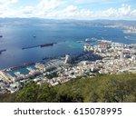 view from gibraltar rock | Shutterstock . vector #615078995