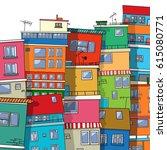 vector favela  brazil   Shutterstock .eps vector #615080771