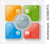 vector abstract 3d paper... | Shutterstock .eps vector #615081971