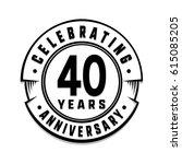 40 years anniversary logo... | Shutterstock .eps vector #615085205