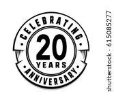 20 years anniversary logo... | Shutterstock .eps vector #615085277