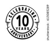 10 years anniversary logo...   Shutterstock .eps vector #615085289