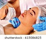 filler injection for female... | Shutterstock . vector #615086825