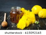 Honey With Dandelion Flowers...