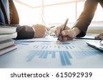 team work process. young... | Shutterstock . vector #615092939