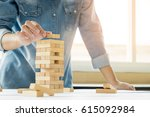 hand of engineer playing a... | Shutterstock . vector #615092984