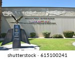 Small photo of PALM SPRINGS, CALIFORNIA - MARCH 24, 2017: Palm Springs Air Museum Distinguished Flying Cross Memorial. Over 100,000 visitors annually tour the 65,000 square foot non-profit museum.