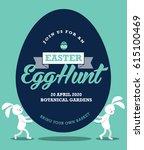 easter egg hunt poster template ... | Shutterstock .eps vector #615100469