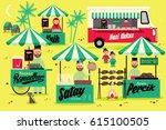 bazaar ramadan template vector... | Shutterstock .eps vector #615100505