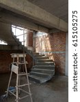 Small photo of Cement winder,staircase a part of house