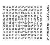 communication line icon set | Shutterstock .eps vector #615105287