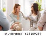 very attentive woman...   Shutterstock . vector #615109259