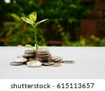 tree on money. | Shutterstock . vector #615113657