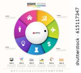 infographics design template  ... | Shutterstock .eps vector #615117347