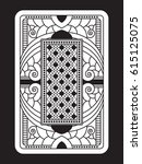 a custom playing card back in... | Shutterstock .eps vector #615125075