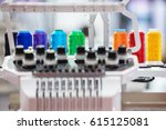 industrial embroidery machine... | Shutterstock . vector #615125081