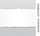 realistic vector torn paper... | Shutterstock .eps vector #615138044