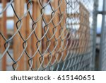 chain link fence | Shutterstock . vector #615140651