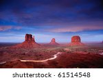 Monument Valley At Dusk After...