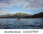 red floating buoy | Shutterstock . vector #615147947