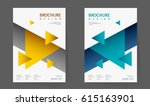 annual report design layout.... | Shutterstock .eps vector #615163901