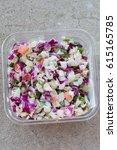 deli salad of organic  non gmo... | Shutterstock . vector #615165785