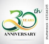 30 years anniversary... | Shutterstock .eps vector #615166145