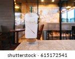 coffee cup in coffee shop. | Shutterstock . vector #615172541