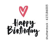 cute print with lettering.... | Shutterstock .eps vector #615186005