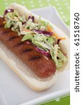 A Plump Grilled Beef Hot Dog O...