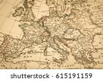antique old map europe | Shutterstock . vector #615191159