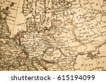 antique old map northern europe | Shutterstock . vector #615194099