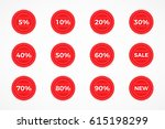 collection of sale discount... | Shutterstock .eps vector #615198299