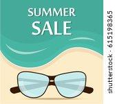 summer sale template banner...   Shutterstock .eps vector #615198365