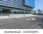 empty pavement and modern... | Shutterstock . vector #615202691
