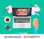 online shopping concept vector... | Shutterstock .eps vector #615204974