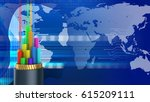abstract 3d digital background... | Shutterstock . vector #615209111