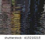 modern glitched background... | Shutterstock .eps vector #615210215